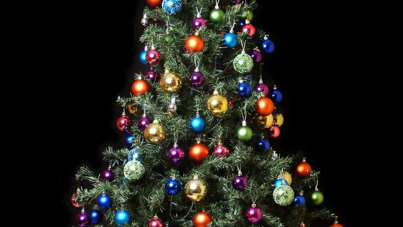 Fondo de pantalla arbol de navidad con bolas de colores - Arbol navidad colores ...