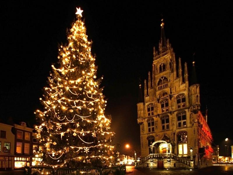 Fondos De Pantalla Arbol De Navidad En Gouda Holanda