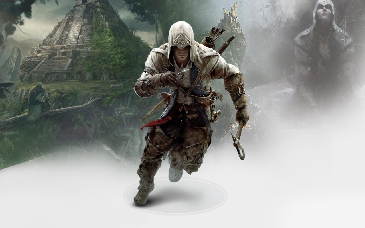 The Walking Dead Logo 2014 Fondo De Pantalla Fondos De: Connor In Assassins Creed 1280x800