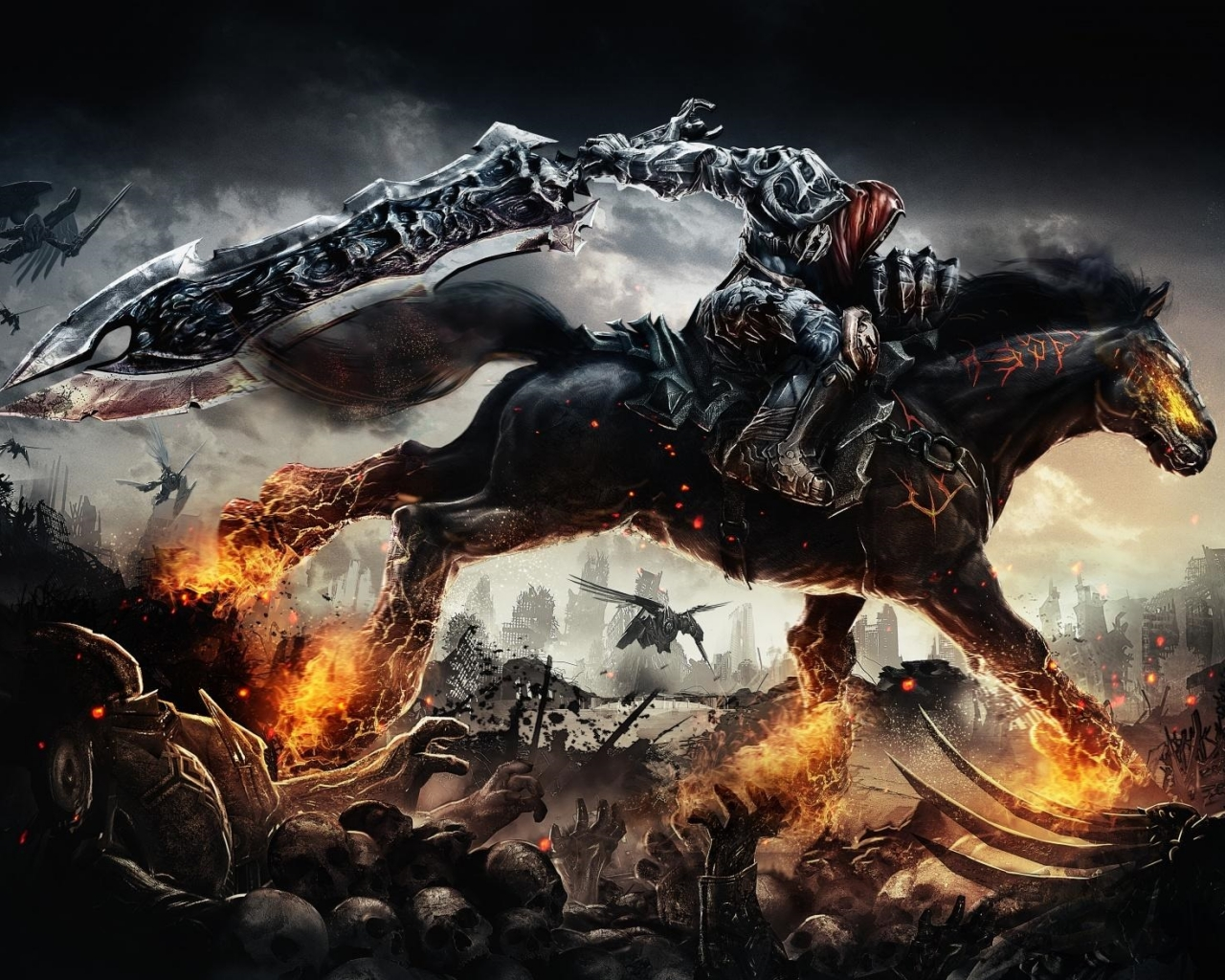 Darksiders War Wallpaper By: Darksiders War Rides Wallpaper 1280x1024