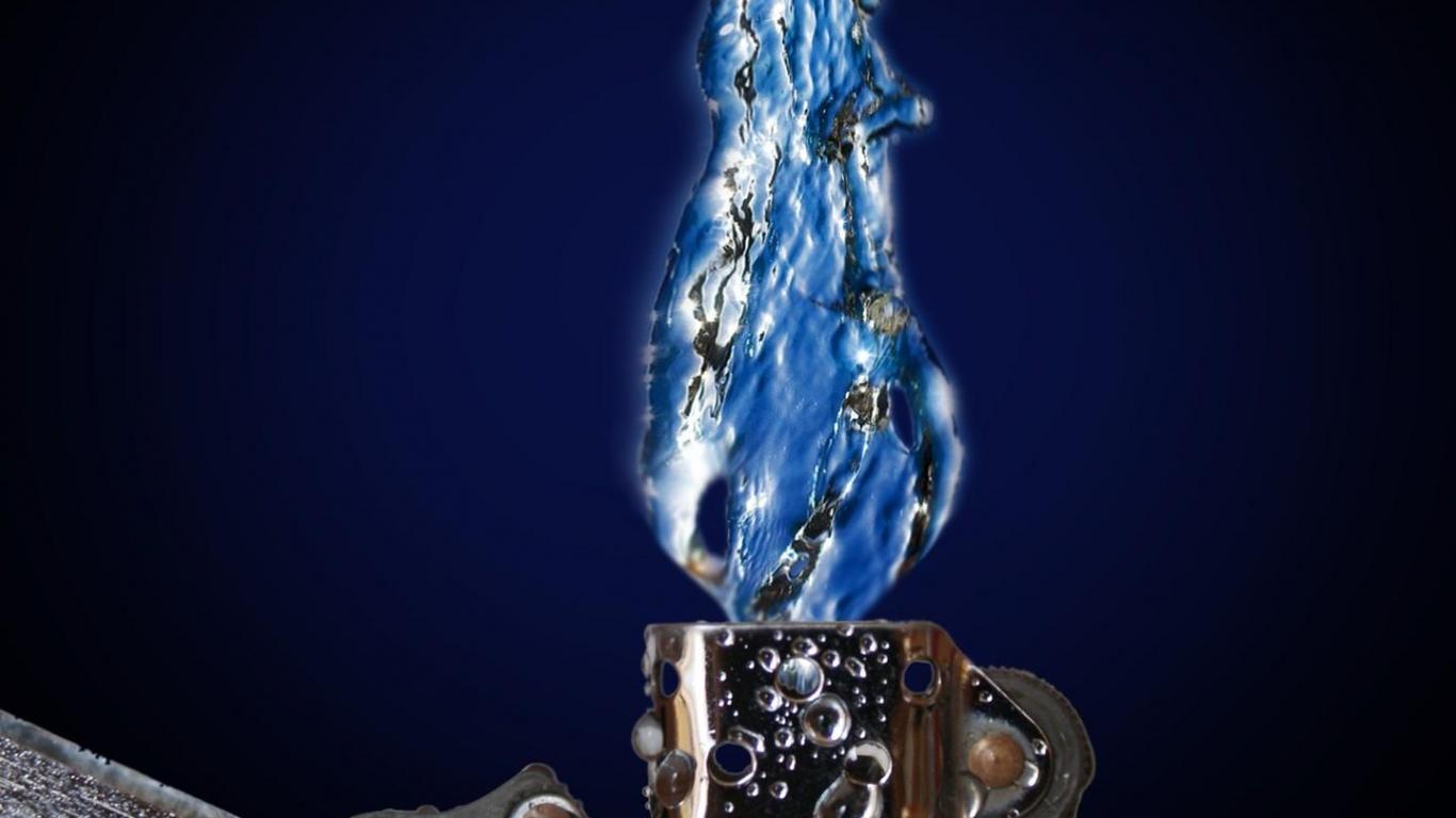 water flame 1366x768 fondo de pantalla 2365