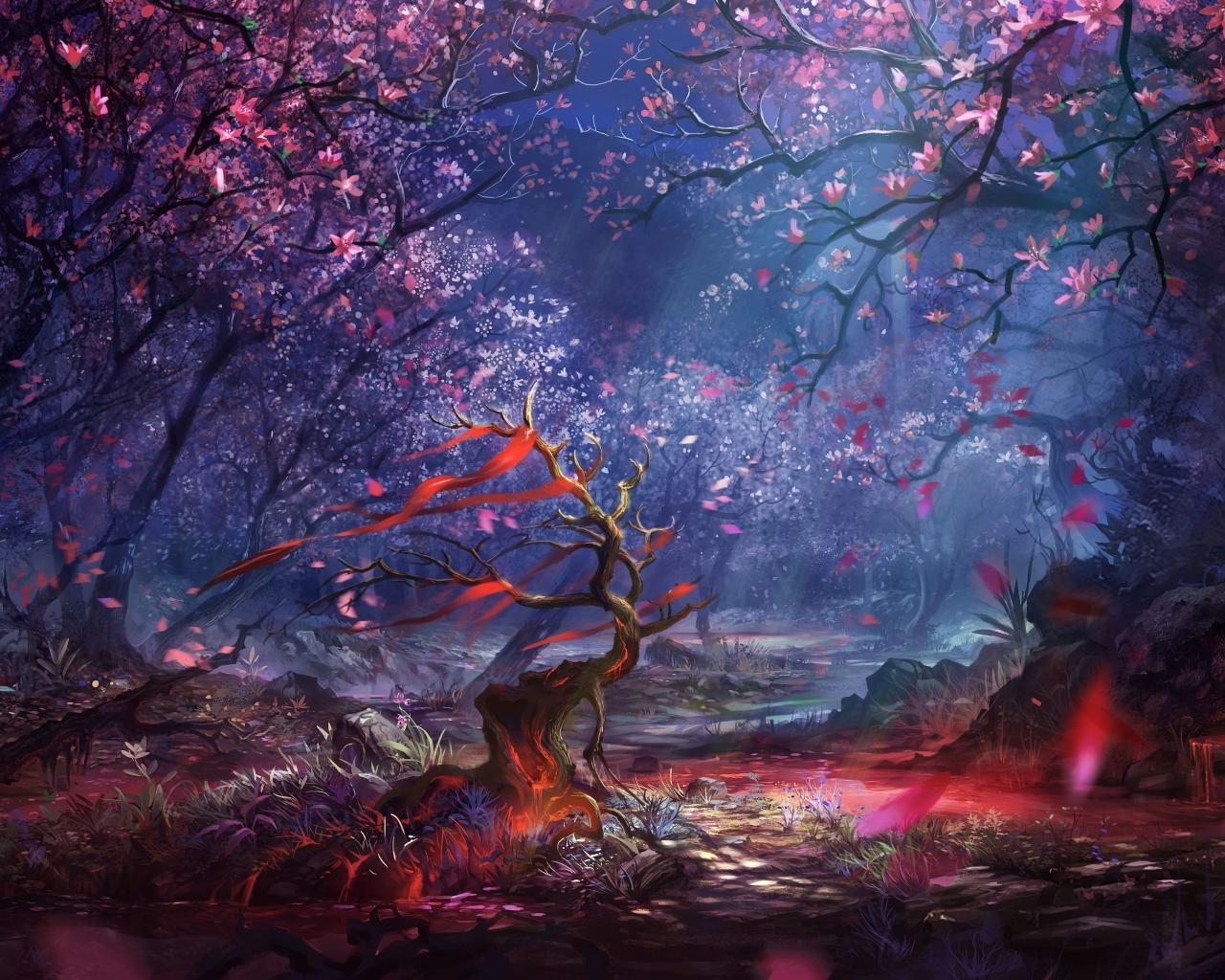 Fondo De Pantalla Bosque Magico 1280x1024